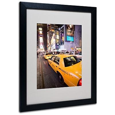 Trademark Fine Art Yale Gurney 'Big Lights' Matted Art Black Frame 16x20 Inches