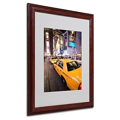 Yale Gurney 'Big Lights' Matted Framed Art - 16x20 Inches - Wood Frame