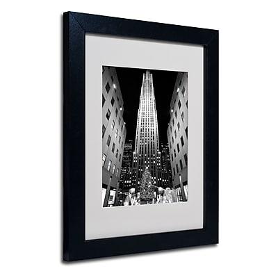 Trademark Fine Art Yale Gurney 'Rockefeller Night' Matted Art Black Frame 11x14 Inches