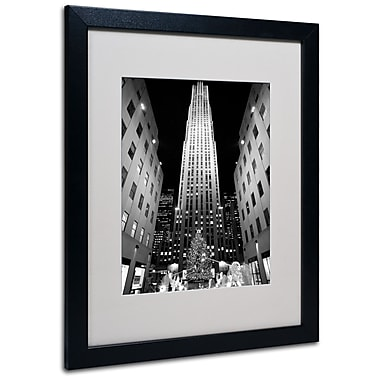 Trademark Fine Art Yale Gurney 'Rockefeller Night' Matted Art Black Frame 16x20 Inches