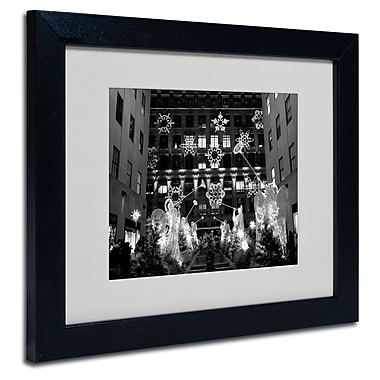 Trademark Fine Art Yale Gurney 'Hark' Matted Art Black Frame 11x14 Inches