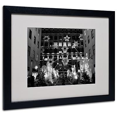 Trademark Fine Art Yale Gurney 'Hark' Matted Art Black Frame 16x20 Inches