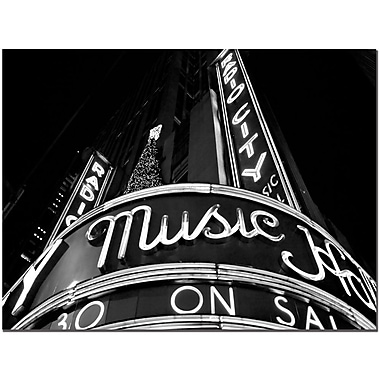 Trademark Fine Art Radio City by Yale Gurney Canvas Ready to Hang 18x24 Inches