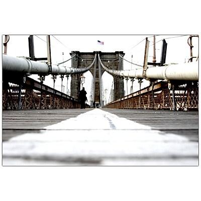 Trademark Fine Art Brooklyn Bridge by Yale Gurney-Canvas Art