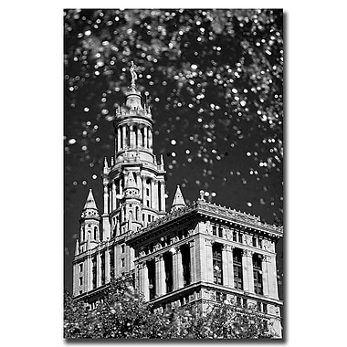 Trademark Fine Art Waterfall over City Hall by Yale Gurney-Canvas Art 35x47 Inches