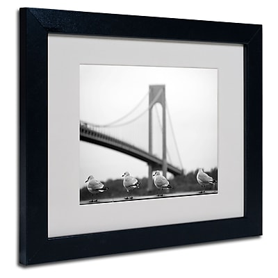 Trademark Fine Art Yale Gurney 'Verrazano' Matted Art Black Frame 11x14 Inches