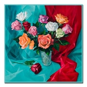Trademark Fine Art A Dozen Roses by Yelena Lamm-Gallery Wrapped Canvas