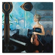 Trademark Fine Art Before the Concert by Yelena Lamm-Gallery Wrapped