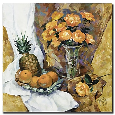 Trademark Fine Art Still Life with Pineapple by Yelena Lamm-Gallery Wrapped
