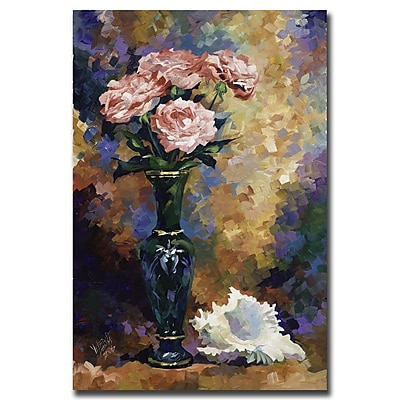 Trademark Fine Art Roses & a Seashell by Yelena Lamm-Gallery Wrapped