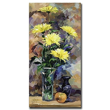 Trademark Fine Art Still Life in Yellow by Yelena Lamm-Gallery Wrapped 1 18x24 Inches