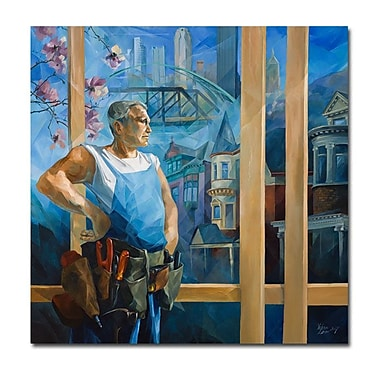 Trademark Fine Art Yelena Lamm 'Spring in Pittsburgh' Canvas Art 18x18 Inches