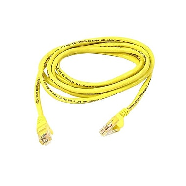 Belkin A3L791-25-YLW 25' CAT-5e Assembled Patch Cable, Yellow (A3L791-25-YLW )