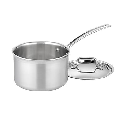 Cuisinart Multiclad Pro 4qt Saucepan with Cover, Stainless