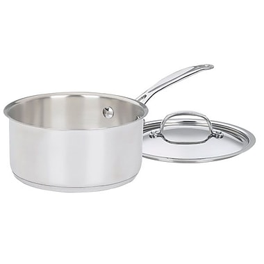 Cuisinart Chef's Classic 2qt Stainless Steel Saucepan with Cover, Stainless