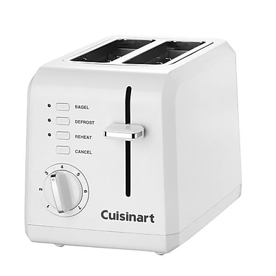Cuisinart® Compact Plastic 2 Slice Toaster, White