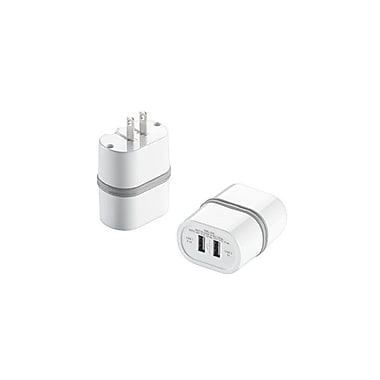 Conair® LectronicSmart™ Dual-USB Wall Charger, White
