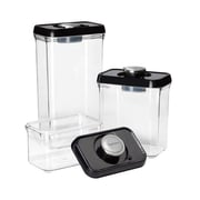 Conair® Cuisinart® 6 Piece Food Storage Containers, Black/Clear
