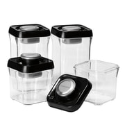 Conair® Cuisinart® 8 Piece Food Storage Containers, Black/Stainless