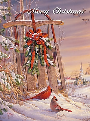 LANG® Wintertime Cardinal Boxed Christmas Cards