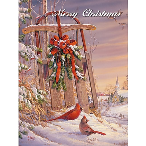 Shop Staples For LANG® Wintertime Cardinal Boxed Christmas