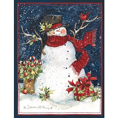 LANG® Snowman Scarf Boxed Christmas Cards