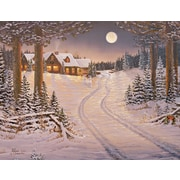 LANG® Meadowlands Cabin Assorted Boxed Christmas Cards, 2/Set