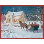 LANG® Four Seasons Assorted Boxed Christmas Cards, 2/Set