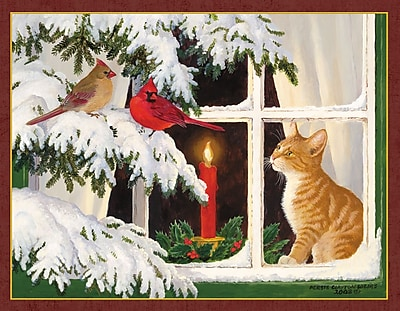 LANG® Kitten Christmas Assorted Boxed Christmas Cards, 2/Set