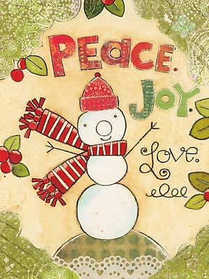 LANG® Artisan Peace Love Snowman Classic Christmas Cards