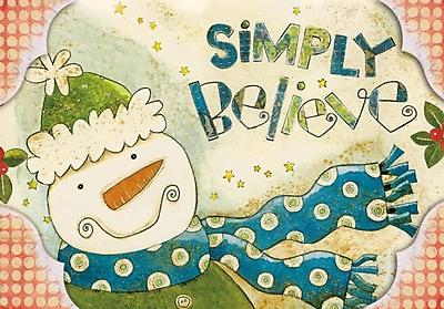 LANG® Artisan Polka Dot Snowman Petite Christmas Cards