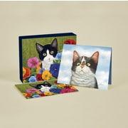 "LANG® 4"" x 5 1/4"" 12/Pack American Cat Deluxe Note Cards, 12/Set"