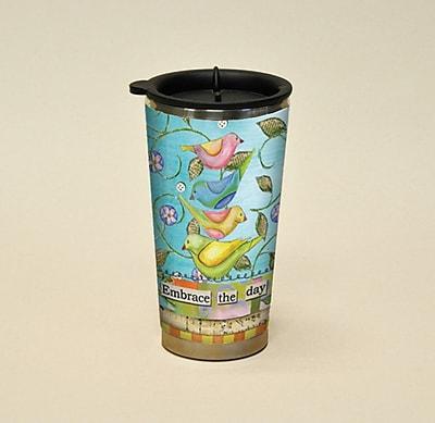 LANG® Artisan Color My World Embrace The Day 16 oz. Travel Mug