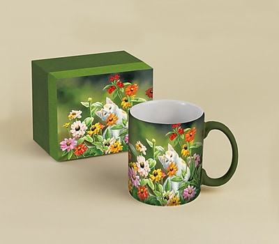 LANG® Please Don't Eat The Zinnias 14 oz. Coffee Mug