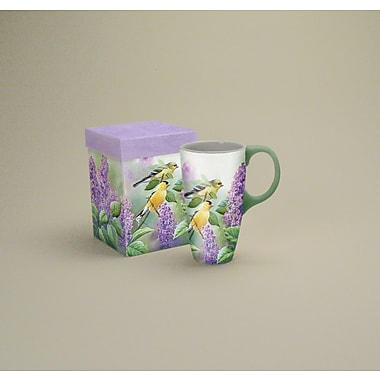 LANG® Goldfinches and Lilacs 19 oz. Latte Mug