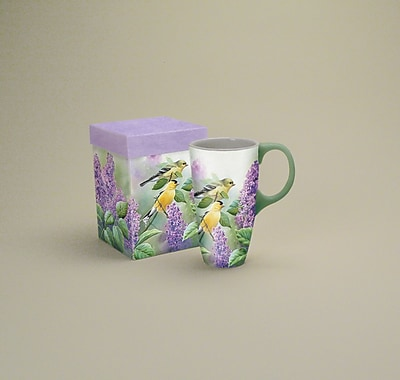 LANG® Goldfinches and Lilacs 19 oz. Latte Mug