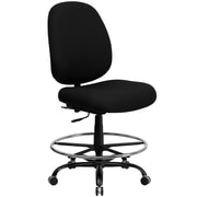 Flash Furniture Big and Tall Fabric Drafting Stool, Armless, Black