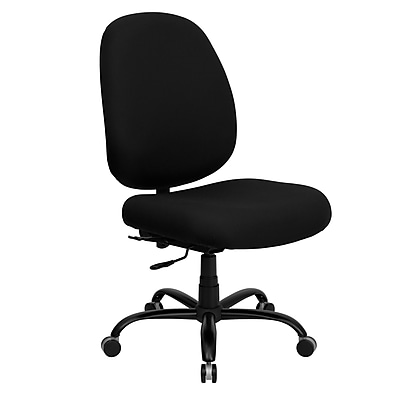 Flash Furniture HERCULES Series 400 lb. Capacity Big and Tall Fabric Office Chair with Extra WIDE Seat, Black 130102