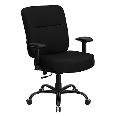 Flash Furniture HERCULES Series 400 lb. Capacity Big and Tall Fabric Office Chair with Arms and 22''W Seat, Black