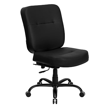 Flash Furniture Hercules Series 400 lb. Capacity Big and Tall Leather Office Chair with Extra WIDE Seat, Black