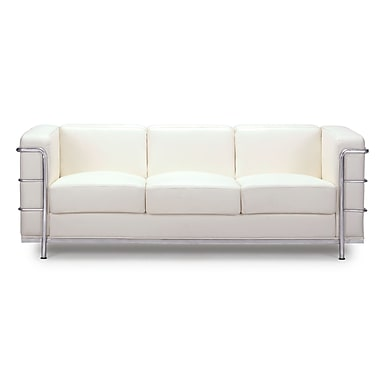 Zuo® Leatherette Fortress Sofa, White