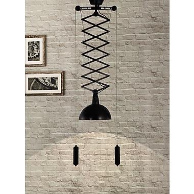 ZuoMD – Lampe de plafond incandescente Emerald 98231 de 60 W, noir antique doré