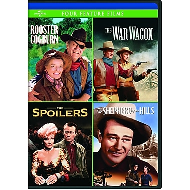 Rooster Cogburn/The War Wagon/The Spoilers (1942)/Shepherd of the Hills (DVD)