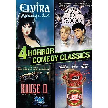 4 Horror Comedy Classics (Elvira/Transylvania 6-5000/Return Of The Killer Tomatoes/House II) (DVD)