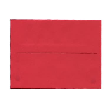 JAM Paper® A2 Invitation Envelopes, 4.38 x 5.75, Brite Hue Red Recycled, 100/Pack (15845g)