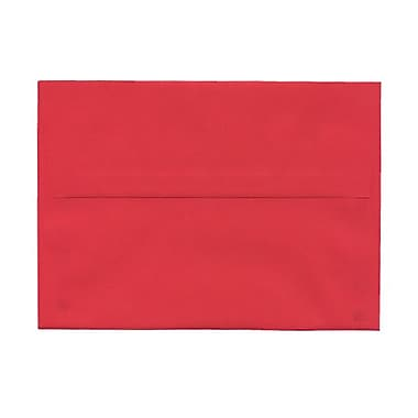 JAM Paper® A7 Invitation Envelopes, 5.25 x 7.25 Brite Hue Red Recycled, 100/Pack (15945g)