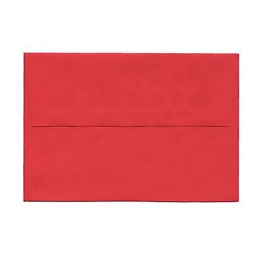 JAM Paper® A8 Invitation Envelopes, 5.5 x 8.125, Brite Hue Red Recycled, 100/Pack (27799g)