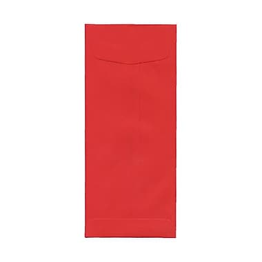 JAM Paper® #11 Policy Envelopes, 4.5 x 10.38, Brite Hue Red Recycled, 100/Pack (9009g)