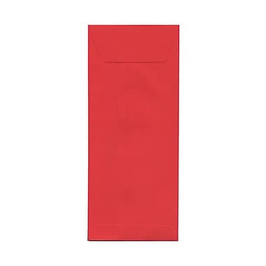 JAM Paper® #12 Policy Envelopes, 4.75 x 11, Brite Hue Red Recycled, 100/Pack (900907737g)