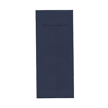JAM Paper® #12 Policy Envelopes, 4.75 x 11, Navy Blue, 100/pack (12PCARDSKNABUB)